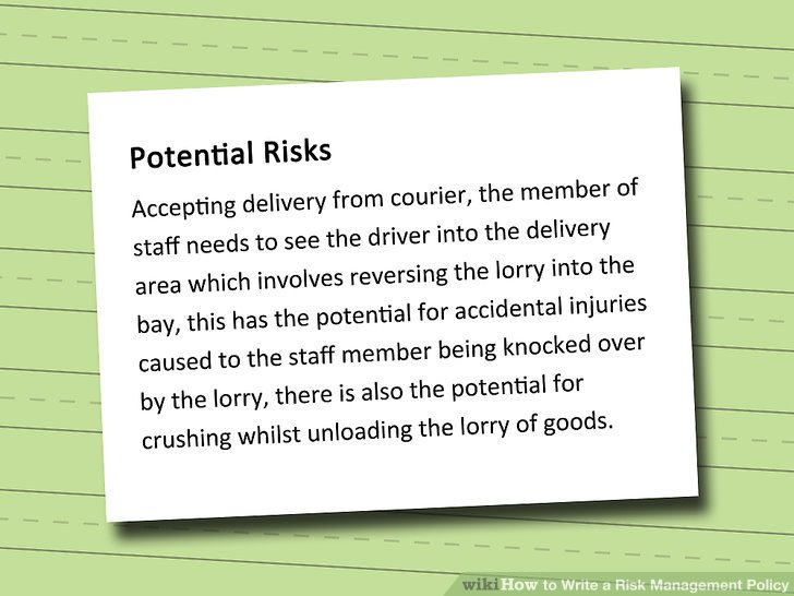 How To Write A Risk Management Policy 10 Steps With