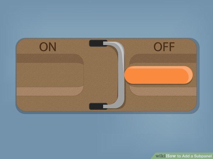 Schalten Sie Ihren Hauptschalter aus, bevor Sie mit den eigentlichen elektrischen Arbeiten beginnen.