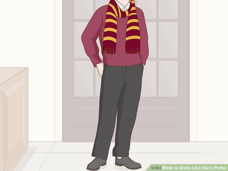 Machen Sie einen roten und goldenen Schal.