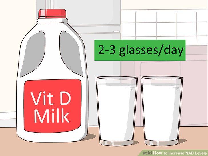 Günde D vitamini takviyeli 2 ila 3 bardak süt için.