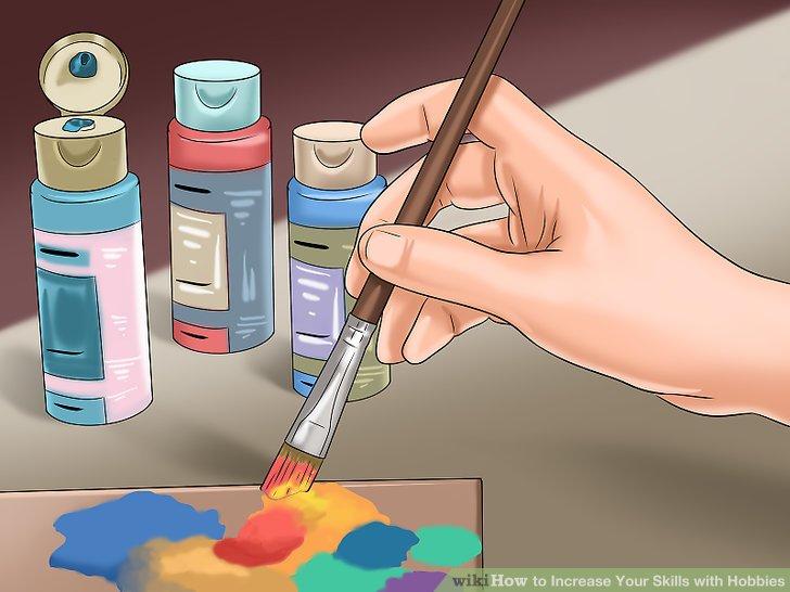 Nimm einen Pinsel und einige Farben und beschreibe deine vollfarbige Welt durch Malen.