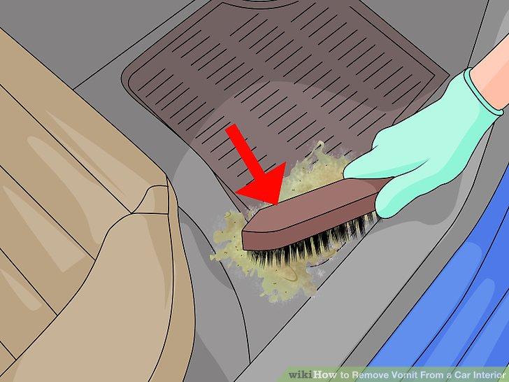 Schrubben oder wischen Sie getrocknete Stücke oder Krusten ab.