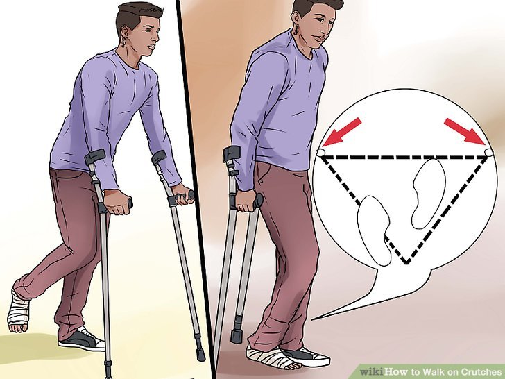 Distribute your weight correctly as you walk.