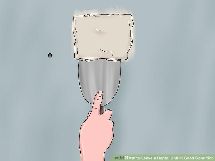 Nagellöcher und andere kleinere Wandschäden reparieren.