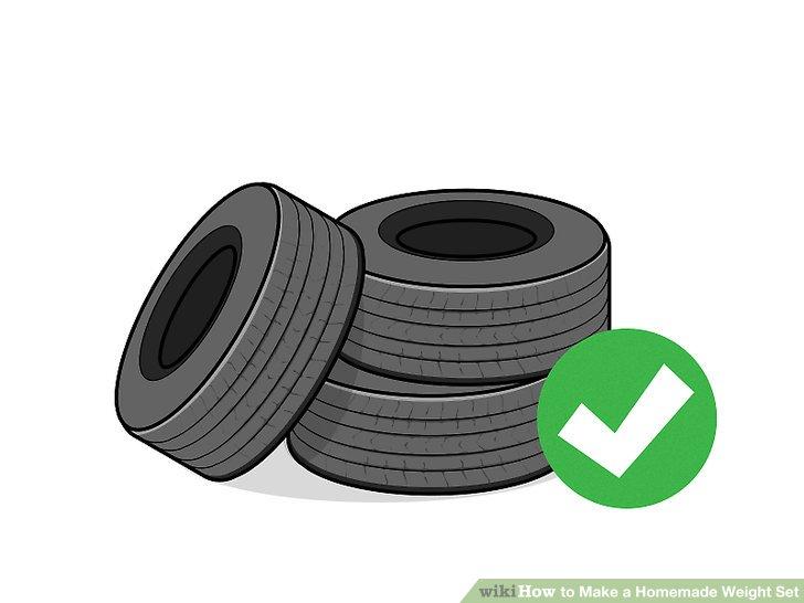 Finde alte Reifen im Hof.