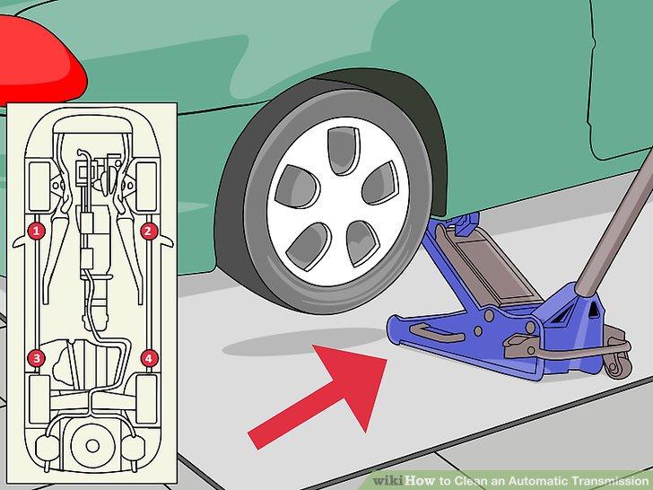 Unter erneuter Bezugnahme auf die Bedienungsanleitung Ihres Besitzers platzieren Sie Wagenheberständer auf beiden Seiten des Fahrzeugs.