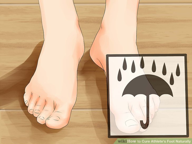 Dry your feet.
