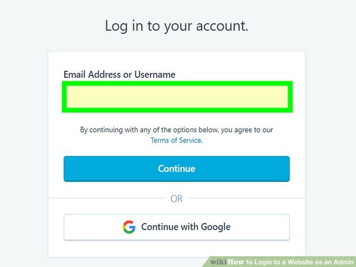 Try logging into the website from the host address.