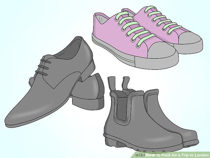 Nehmen Sie nur ein paar Schuhe mit.