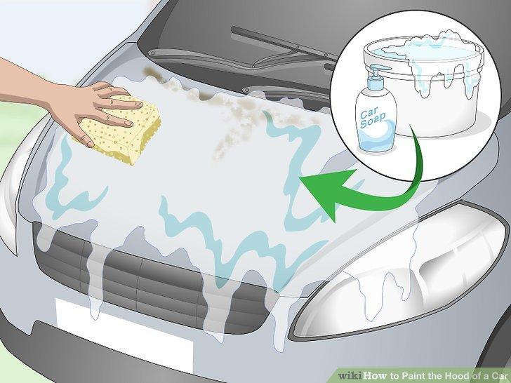 Waschen Sie die Haube mit Wasser und Seife.