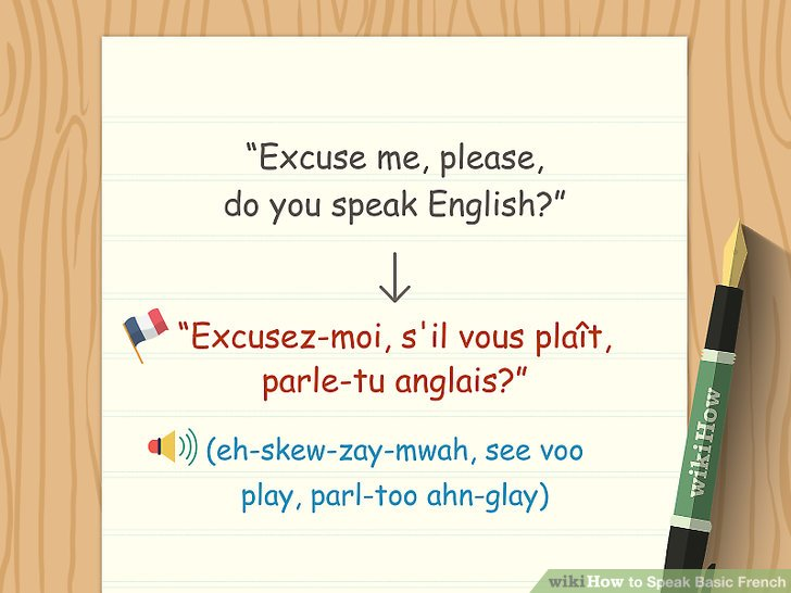 Merken Sie sich die französischen Wörter für bitte und danke.
