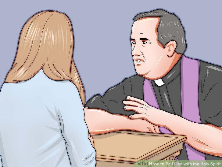 Papaz veya rahiple konuş.