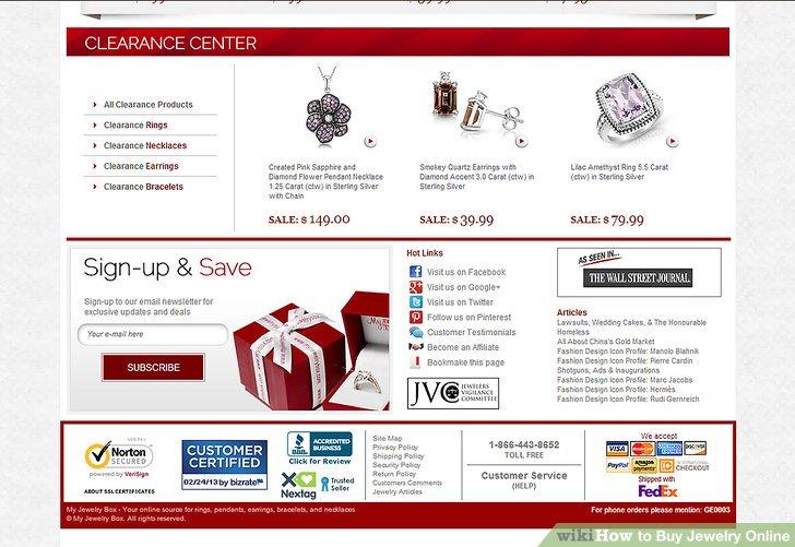 Kaufen Sie Schmuck online bei Anbietern mit sicheren Websites.