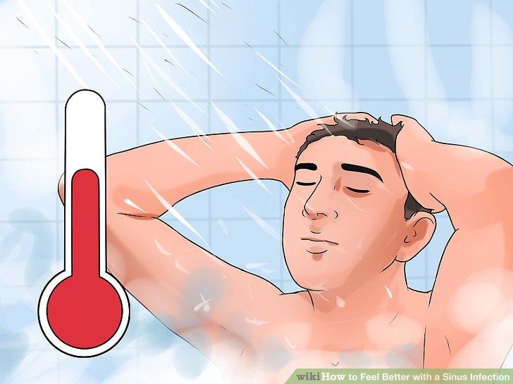Duschen Sie heiß.
