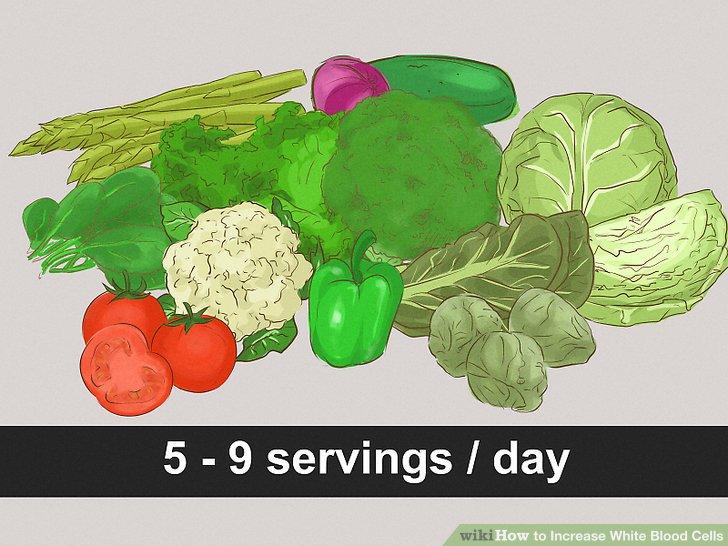 Essen Sie fünf bis neun Portionen Gemüse pro Tag.