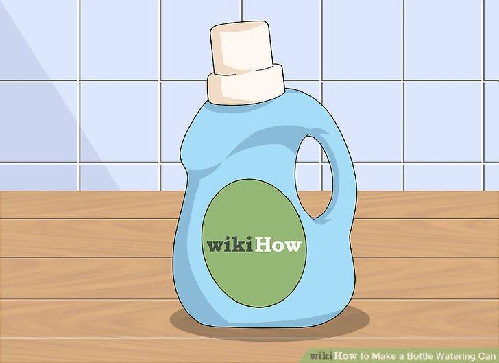 Wählen Sie eine große Flasche mit Griff und Schraubdeckel.