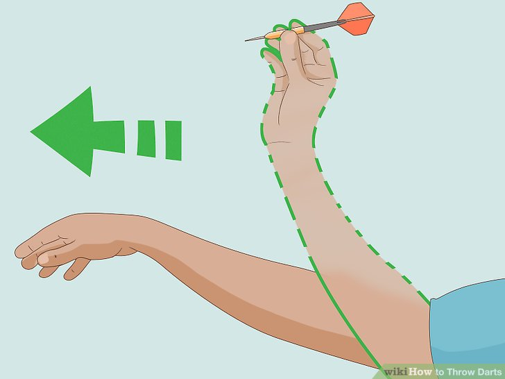 Snap your wrist as you release the dart.