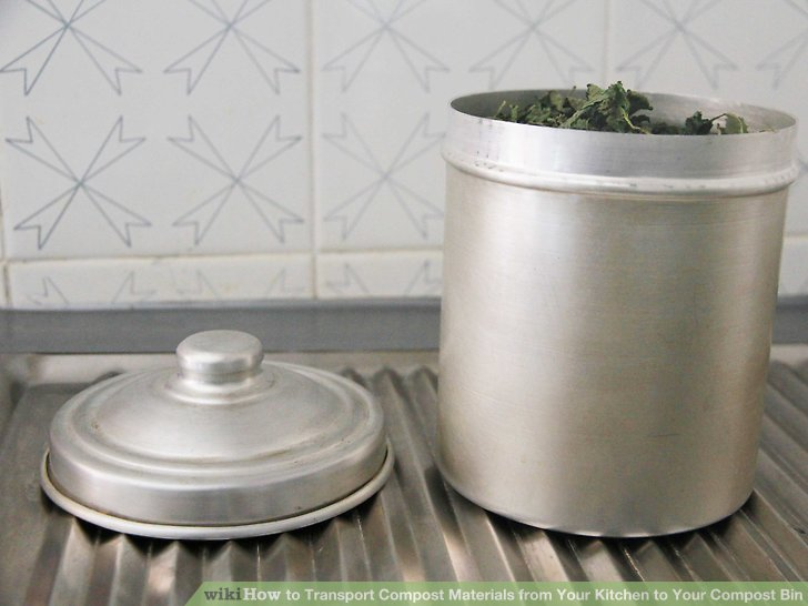 compost bin for kitchen stainless steel table how to transport materials from your image titled step 1