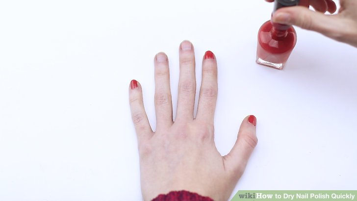 Paint your nail polish in light, thin layers so each layer can dry.