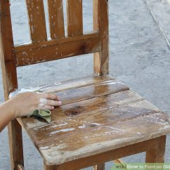Old Wood Chairs Walmart Butterfly Chair How To Paint An Wooden 10 Steps With Pictures Image Titled Step 1