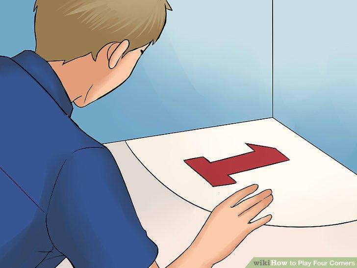 Nummerieren Sie die vier Ecken des Raumes.