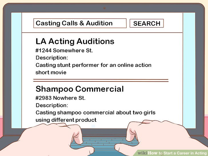 Find auditions on your own.