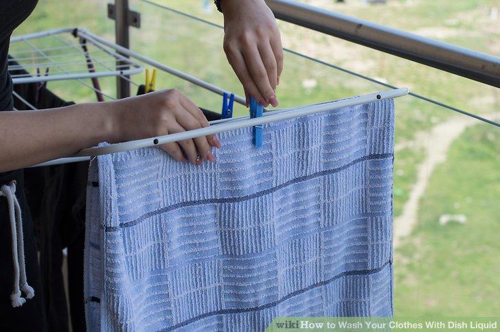 Trocknen Sie Ihre Wäsche.