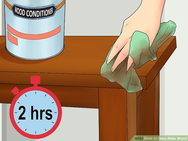 Be ready to stain within two hours of applying conditioner.