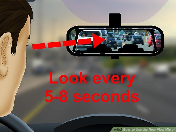 Überprüfen Sie regelmäßig Ihren Rückspiegel.