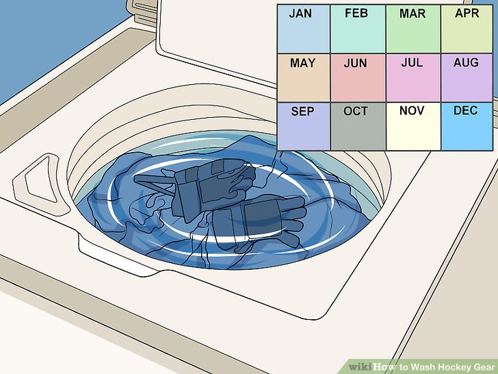 Wash your protective equipment once a month.