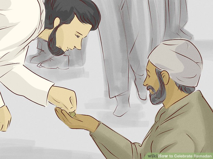 Vergessen Sie nicht, den Bedürftigen zu geben.