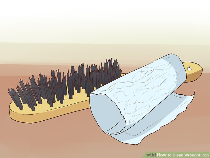 Rost mit Drahtbürste oder Schleifpapier entfernen.