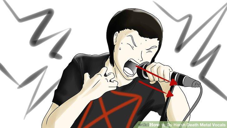 Trinken Sie ein gesundes Getränk wie Wasser, nachdem Sie Death Metal-Vocals eingespielt haben.