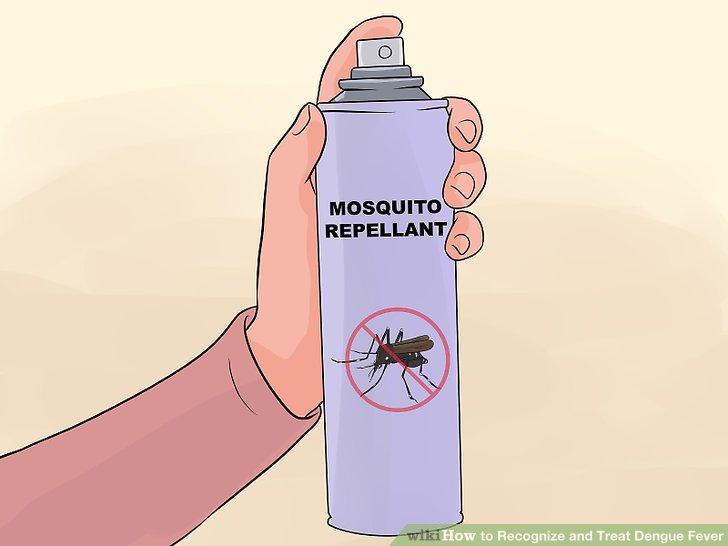 Tragen Sie ein aktuelles mückenabweisendes Produkt auf.