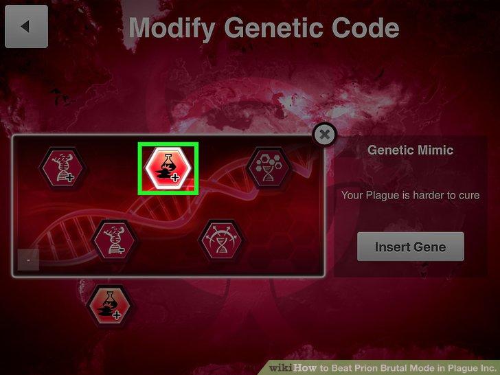 """Wählen Sie """"DNA Mimic"""" als Mutationsgen."""
