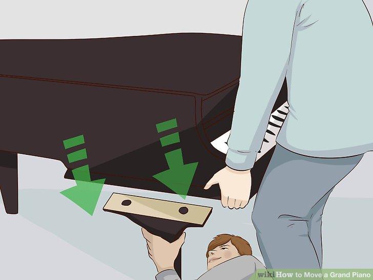Entfernen Sie die Leier des Klaviers.