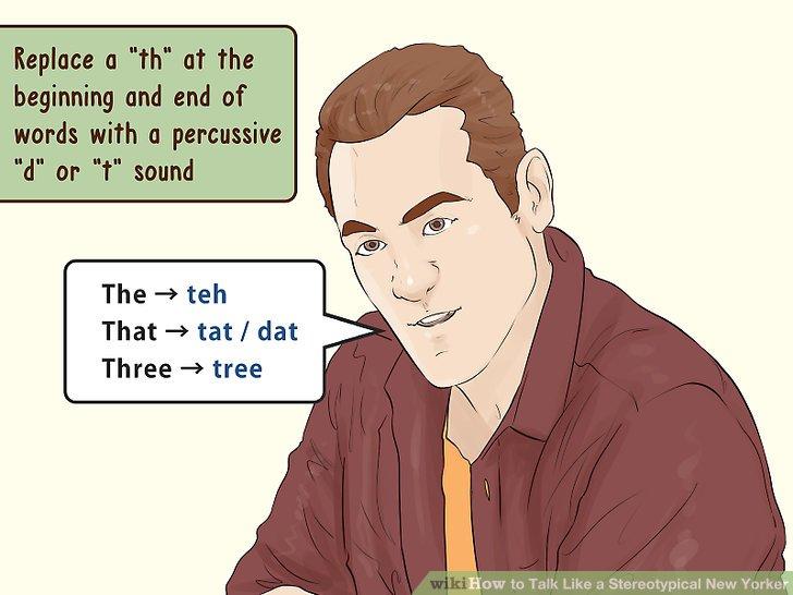"""Ersetzen Sie ein """"th"""" am Anfang und Ende von Wörtern durch ein perkussives """"d"""" oder """"t""""."""