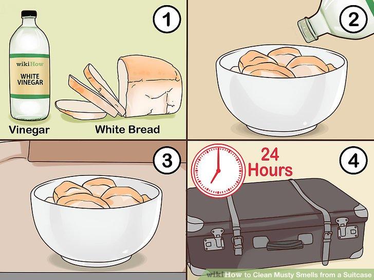 Verwenden Sie Essig und Weißbrot.