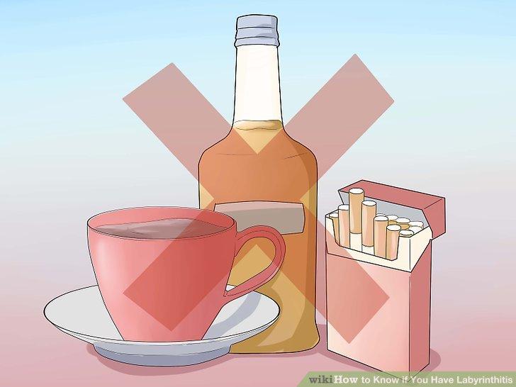 Vermeiden Sie Kaffee, Alkohol und Rauchen.