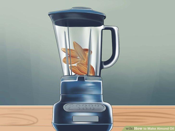 Legen Sie die Mandeln in Ihren Mixer.