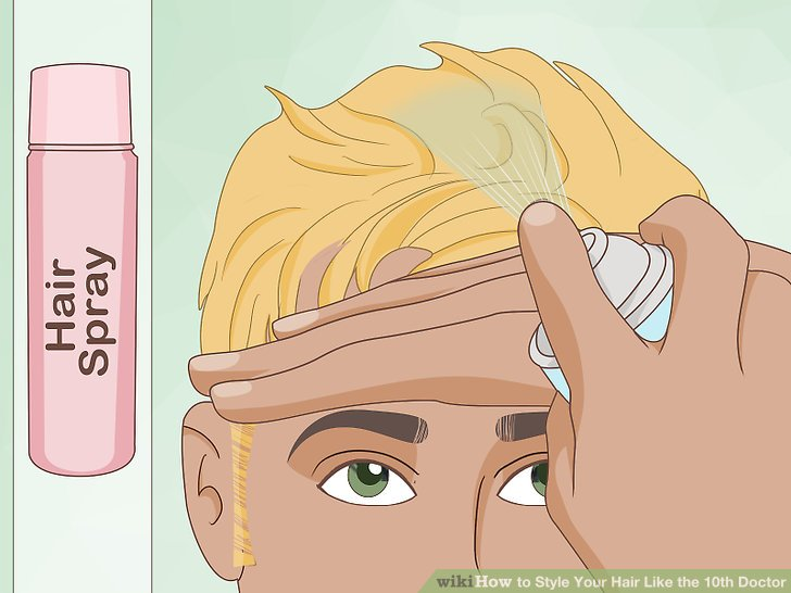 Use hair spray to preserve the shape of your hair.