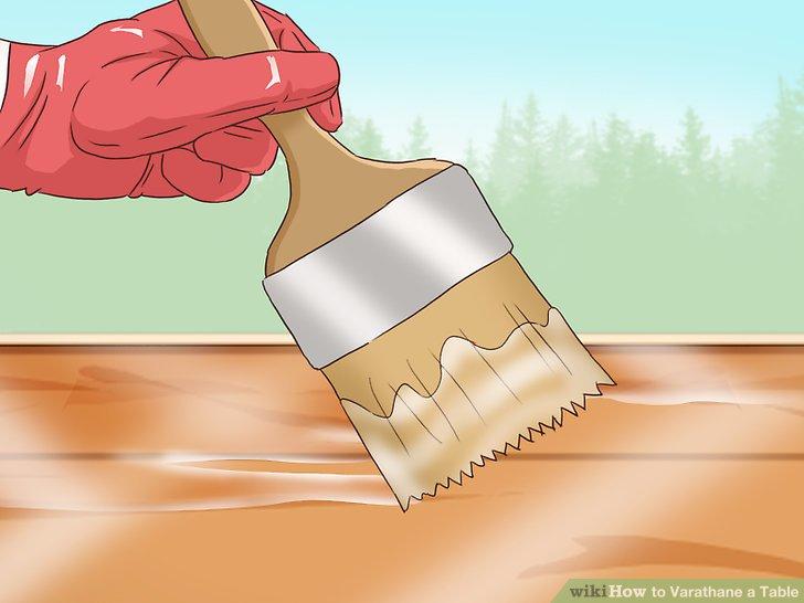 Schleifen Sie den Mantel im trockenen Zustand leicht mit 220er Schleifpapier.