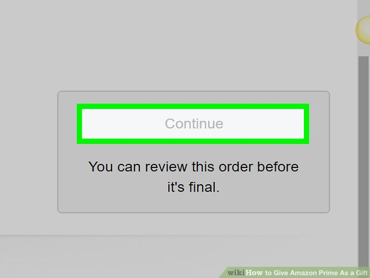 Review your order.