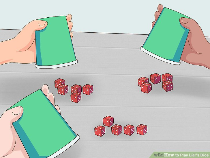 Reveal all the players' dice when a player challenges a bet.