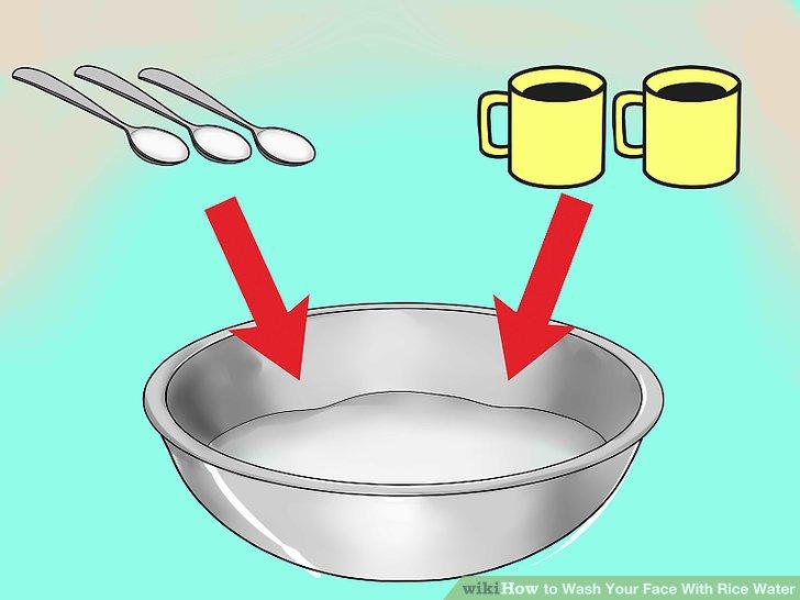 Verdünnen Sie Ihr Reiswasser, wenn es gekocht oder fermentiert ist.