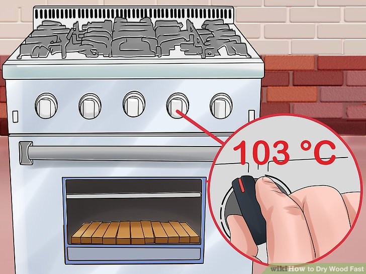 Preheat your oven to 217 °F (103 °C) and monitor its temperature.