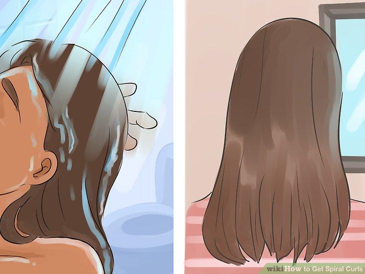 Saçını yıka ve kurut.