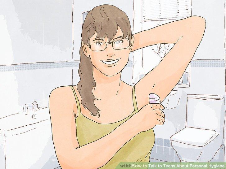 Besprechen Sie die Vermeidung von Körpergeruch und minimieren Sie das Schwitzen.