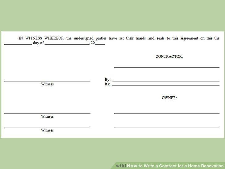 Fügen Sie einen Bereich für beide Parteien ein, um den Vertrag zu unterzeichnen und zu datieren.