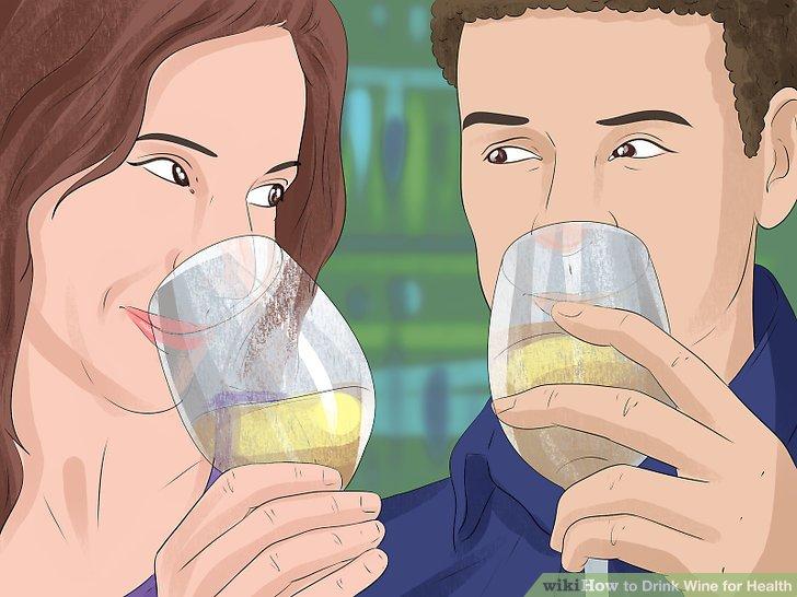 Trinken Sie gelegentlich 1–2 Gläser Wein.